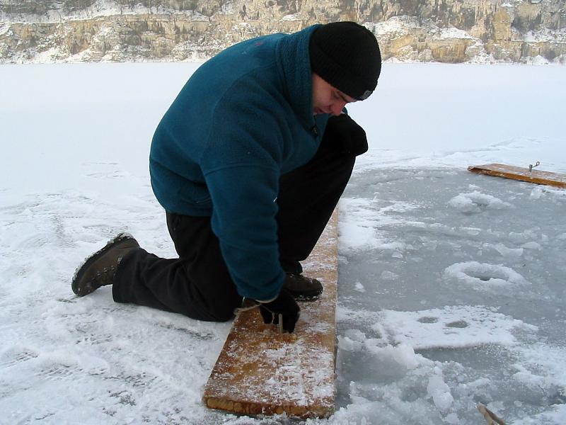 nurkowanie pod lodem - deski