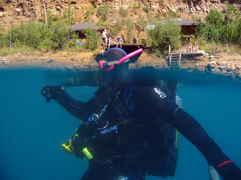 powiększenie pod wodą