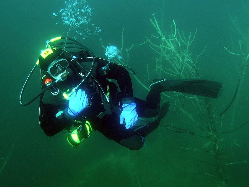 zagubienie partnera pod wodą