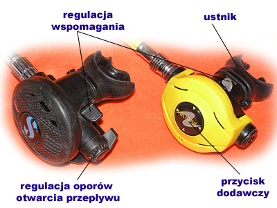 automat oddechowy stopień drugi (octopus) - nurkowanie
