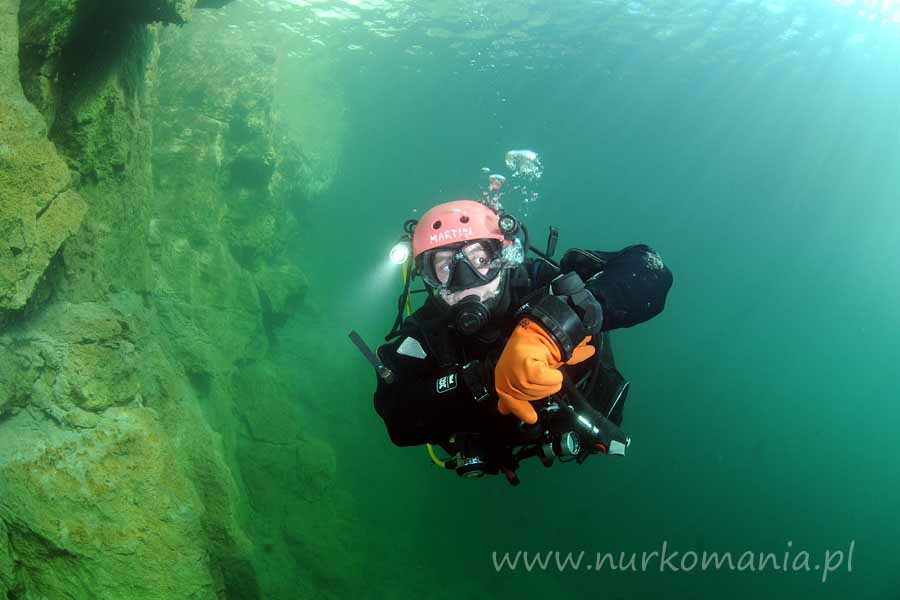 nurkowanie Zakrzówek 2012 skafander suchy
