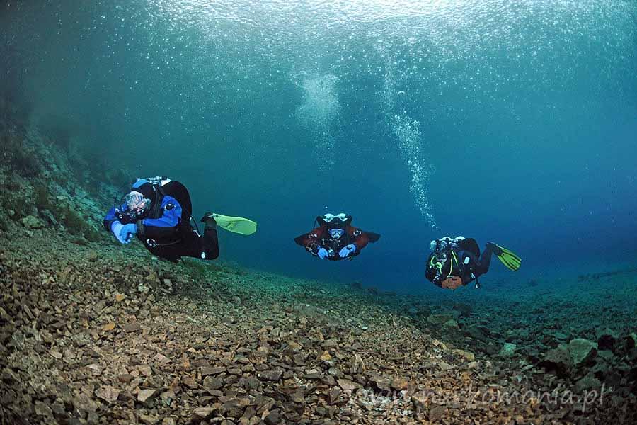 nurkowanie austria Gruner See