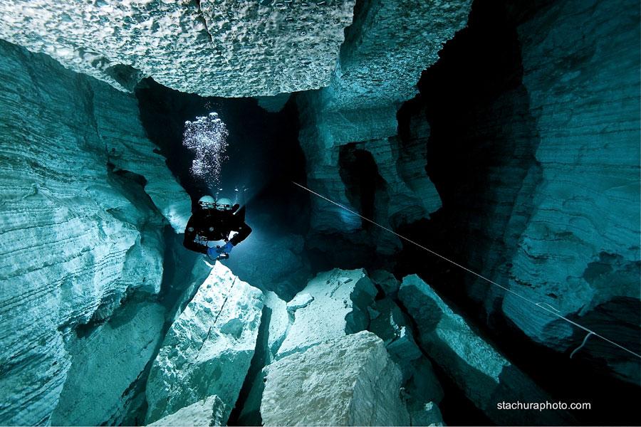 nurkowanie jaskiniowe jaskinia Ordyńska