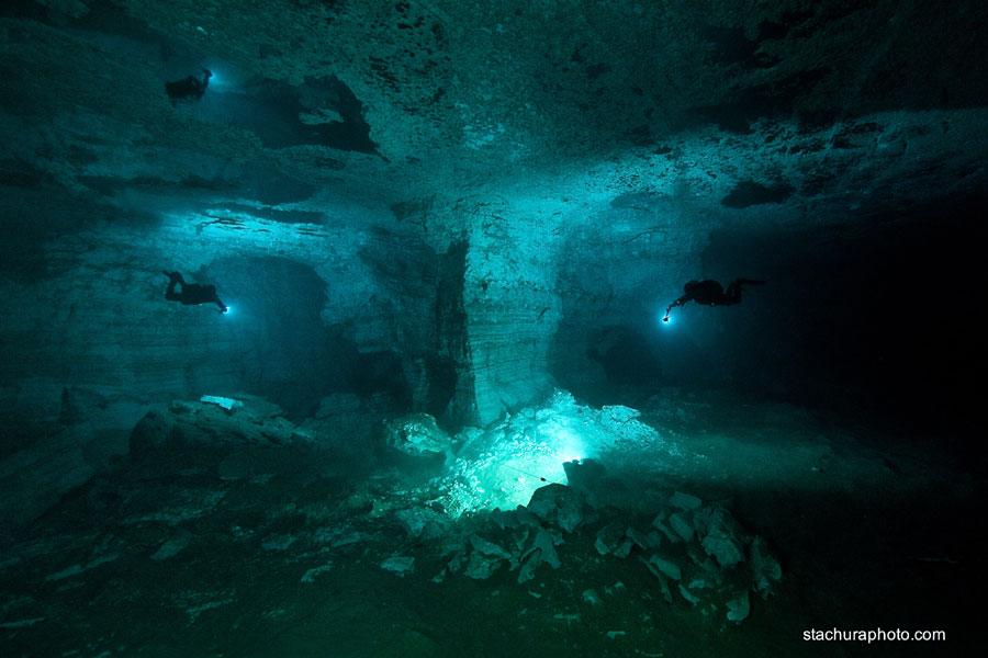 nurkowanie jaskinia Ordyńska