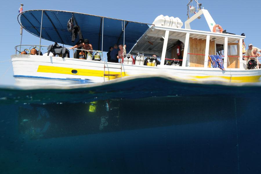 nurkowanie z łodzi