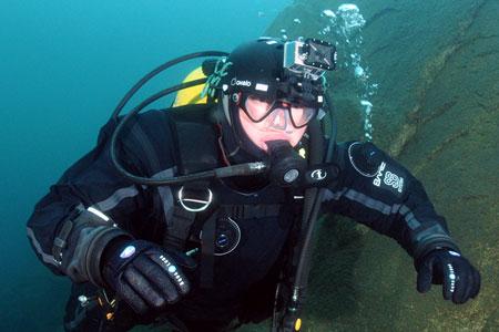 kask do nurkowania kamera Go Pro